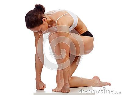 Muscular strong woman