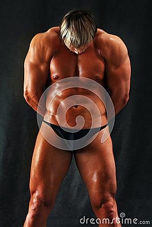 Muscular torso of a man