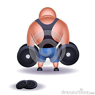 Muscular weightlifter