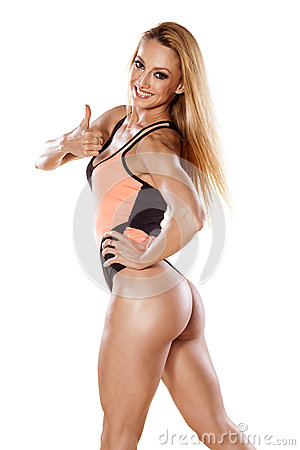 Free Muscular Woman Royalty Free Stock Images - 70918589