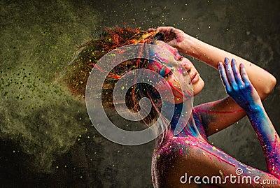 Muse With Creative Body Art Royalty Free Stock Photography Cartoondealer Com 39766211