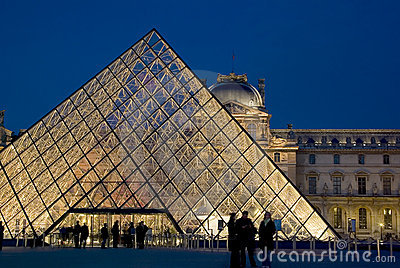 Musee du Louvre, Paris, France Editorial Photo