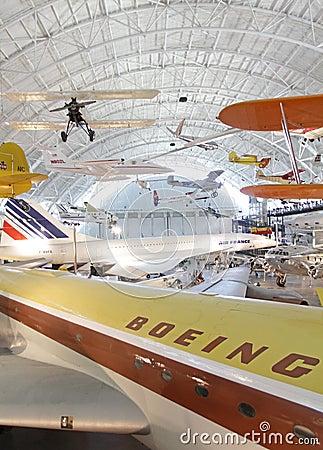 Museo del aire y de espacio Foto de archivo editorial
