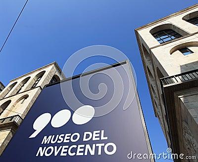 Museo del Novecento Editorial Photo