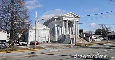 Museo Judío de Augusta en Georgia 4K Es la sinagoga más antigua de Georgia almacen de metraje de vídeo