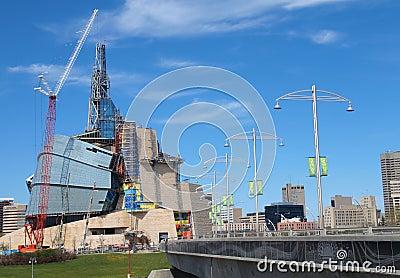 Muserum canadese per i diritti dell uomo ed il Esplanade 2 Fotografia Stock Editoriale