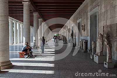Museum at Ancient Agora Athens Greece Editorial Stock Photo