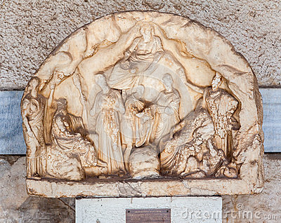 Museum Athens för marknadsplats för marmorBas lättnad