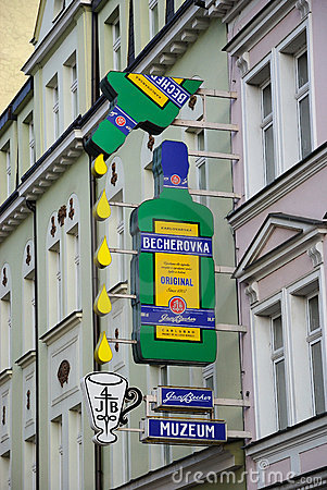 Museum of Becherovka  in Karlovy Vary Editorial Photo
