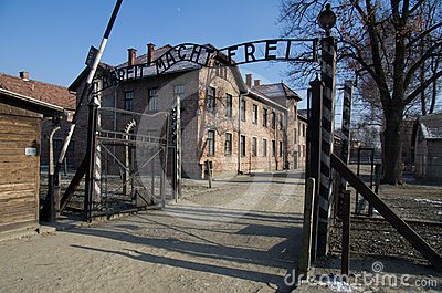 Museum  of concentration camp Auschwitz,Poland Editorial Stock Photo