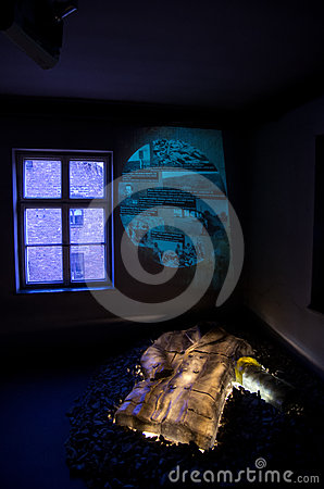 Museum of concentration camp Auschwitz,Poland Editorial Stock Image