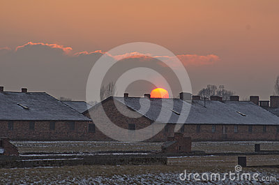 Museum  of concentration campe Auschwitz,Poland Editorial Photo