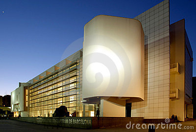 Museum of Contemporary Art of Barcelona (MACBA) Editorial Stock Image