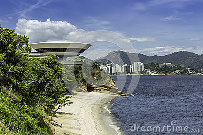 Museum of Contemporary Art in Niteroi Editorial Photo