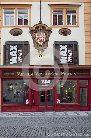 WAX museum in Prague Editorial Stock Image