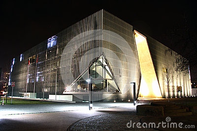 Museum of the History of Polish Jews in Warsaw (Po Editorial Stock Photo