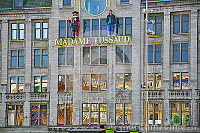 Museum madame Tussaud in Amsterdam Editorial Image