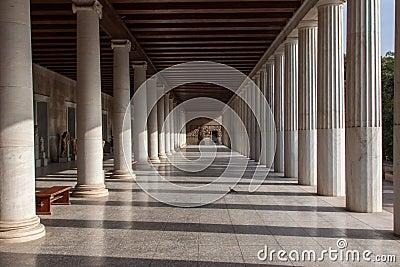 Museum på den forntida marknadsplatsen Athens Grekland
