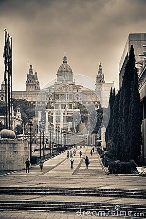 Museum Palau Nacional d Art de Catalunya Editorial Image