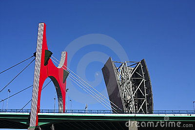 Museum Tower, and La Salve Bridge, Bilbao. Editorial Image