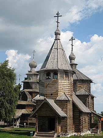 Museum of wooden architecture suzdal russia royalty free for Architecture celebre