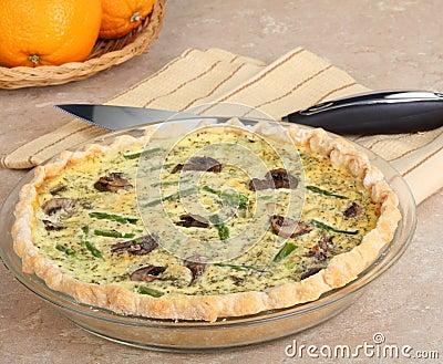Mushroom and Asparagus Quiche