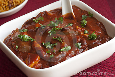Mushroom and bean chilli