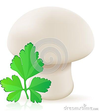 Mushroom champignon vector illustration