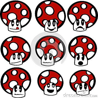Mushroom emoticons