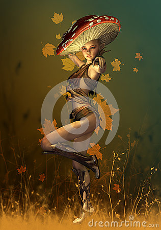 Mushroom Fairy, 3d Computer Graphics