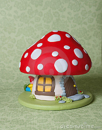 Free Mushroom Fantasy Cake Stock Images - 13270764