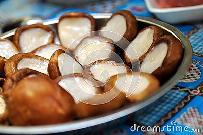 Mushroom with fish paste