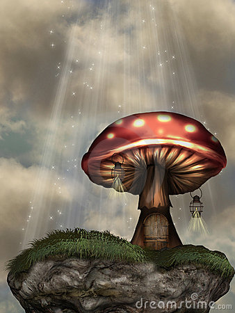 Free Mushroom House Stock Image - 7632661