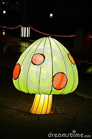 Mushroom of light at night