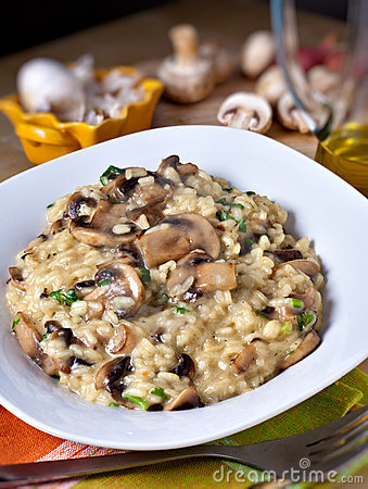 Free Mushroom Risotto Royalty Free Stock Image - 19466456