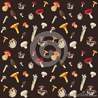Free Mushroom Seamless Pattern Royalty Free Stock Photography - 50639577