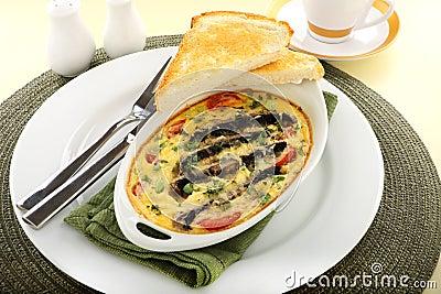 Mushroom And Tomato Bake