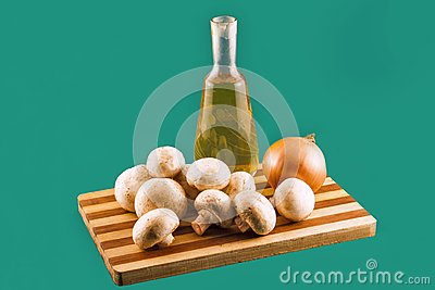 Field mushrooms.