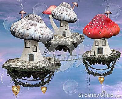 Mushrooms magic town