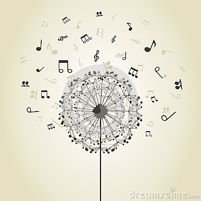 Free Music A Dandelion Royalty Free Stock Image - 40548116