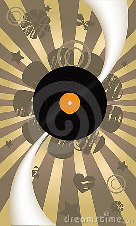 Music abstract vector background