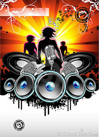 Free Music And Disco Background Royalty Free Stock Image - 8409136