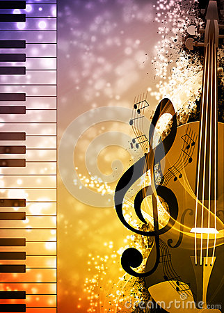 Free Music Background Royalty Free Stock Photography - 41550117