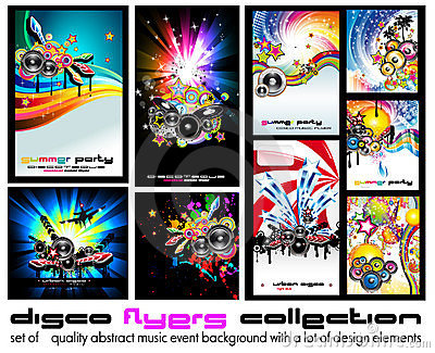 Music Background for Discoteque Flyer - Set 5
