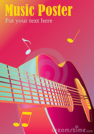Free Music Background Or Poster Royalty Free Stock Photos - 23871198