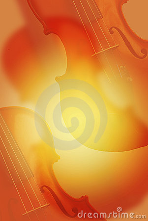 Music background with red violin.