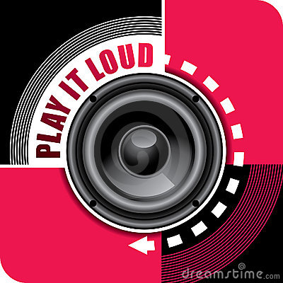 Music background with speaker