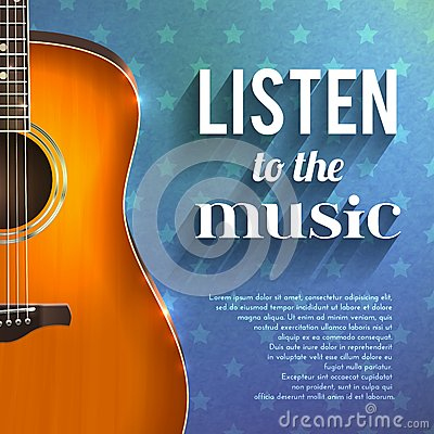 Free Music Background With Guitar Royalty Free Stock Photo - 50173695