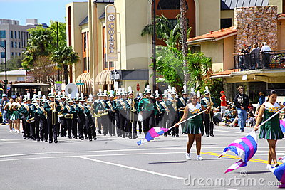 Music Band in Burbank On Parade Editorial Stock Image