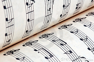 music book and notes